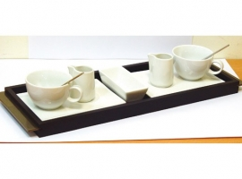TAZA CAFE PORCELANA SET DUO