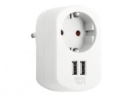 ADAPTADOR CON DOBLE USB 3.15A