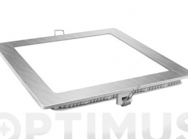 DOWNLIGHT LED EMPOTRAR PLATA CUADRADO 18 W