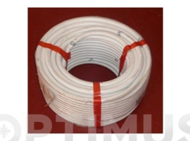 TUBO FLEXIBLE AIRE ACONDICIONADO PVC BLANCO