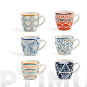 TAZA NEW BONE CHINA MULTIDECORADO