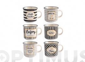 TAZA NEW BONE CHINA BLACK GOLD