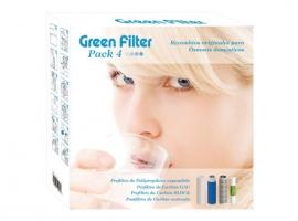 RECAMBIO 3 FILTROS + POSFILTRO GREEN FILTER