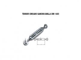 TENSOR GANCHO ANILLA DIN 1480 ZINCADO