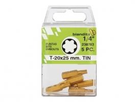 PUNTA ATORNILLAR TORX 1/4 TIN (5 UDS)