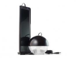 KIT SOLAR RECARGABLE CON LAMPARA 3 LEDS