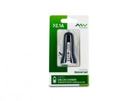 CARGADOR/TRANSFORMADOR AUTO USB 2,1A