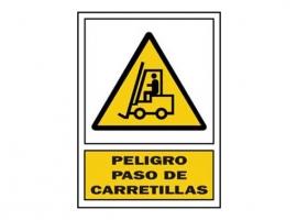 SEÑAL PASO CARRETILLA PVC