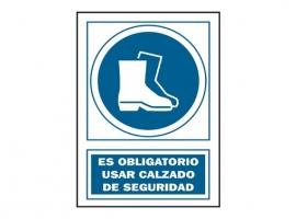SEÑAL USO BOTAS OBLIGATORIO PVC