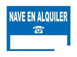 CARTEL NAVE EN ALQUILER