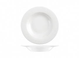 PLATO NEW BONE CHINA ALA  BLANCO
