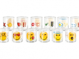 VASO AGUA VIDRIO SMILEY EMOTICON