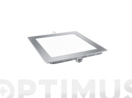 DOWNLIGHT LED EMPOTRAR CUADRADO PLATA 18W
