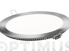 DOWNLIGHT LED EMPOTRAR PLATA REDONDO 18 W