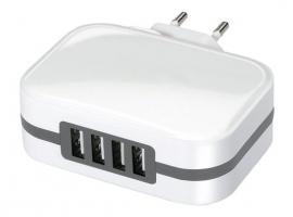 CARGADOR 4 USB CARGA RAPIDA