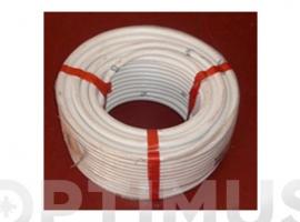 TUBO FLEXIBLE AIRE ACONDICIONADO PVC BLANCO
