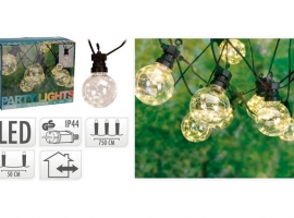 GUIRNALDA LED 10 LAMPARAS Ø 5 CM MICROLED