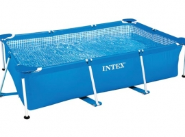 PISCINA DESMONTABLE RECTANGULAR TUBULAR FRAME