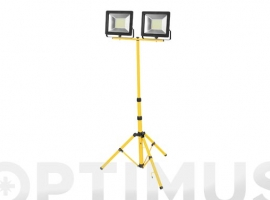 FOCO PROYECTOR LED 2 X 50 W 6400 K TRIPODE