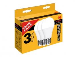LAMPARA STANDAR LED A60 (PACK 3 UNIDADES)