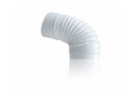 CODO FLEXIBLE TUBO EXTRACCION PVC REDONDO
