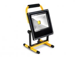 FOCO PROYECTOR LED RECARGABLE CON SOPORTE 30 W