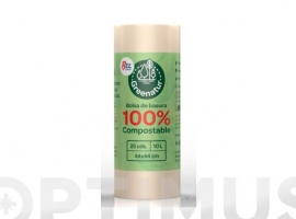 BOLSA BASURA COMPOSTABLE 10 L (25 UDS)