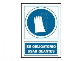 SEÑAL USO GUANTES OBLIGATORIO PVC