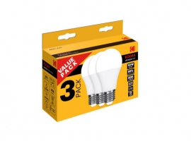 LAMPARA STANDAR LED A60 (PACK 3 UNIDADES)